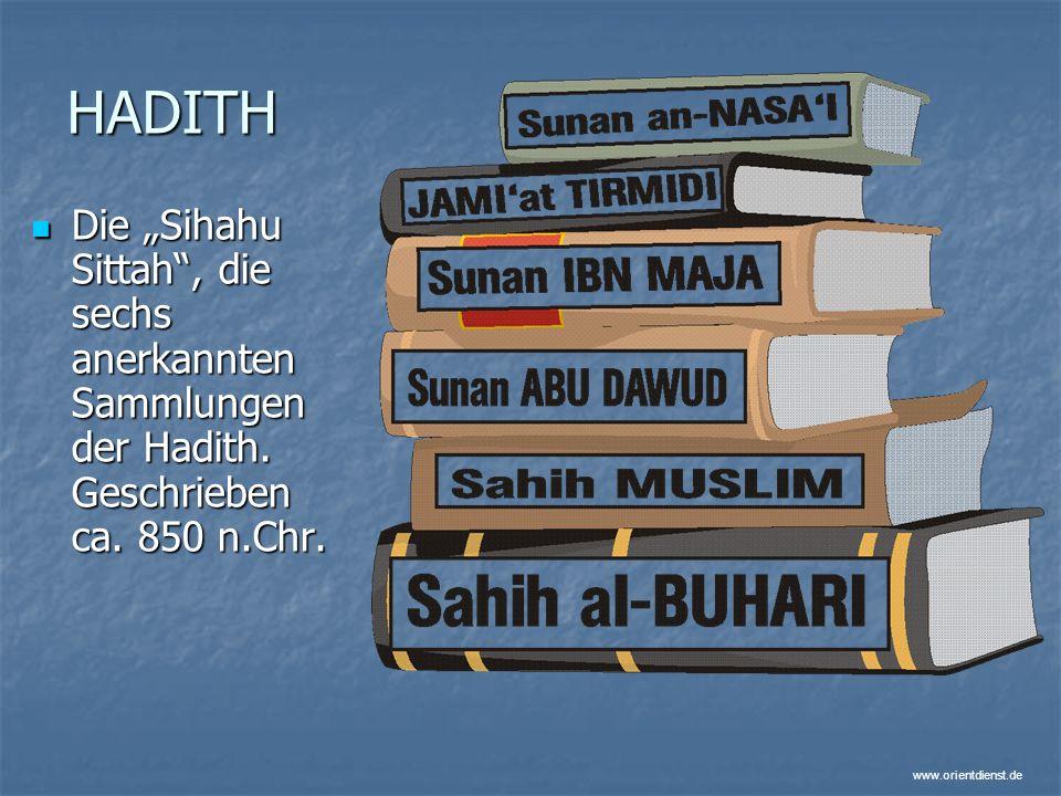 """HADITH Die """"Sihahu Sittah , die sechs anerkannten Sammlungen der Hadith. Geschrieben ca. 850 n.Chr."""