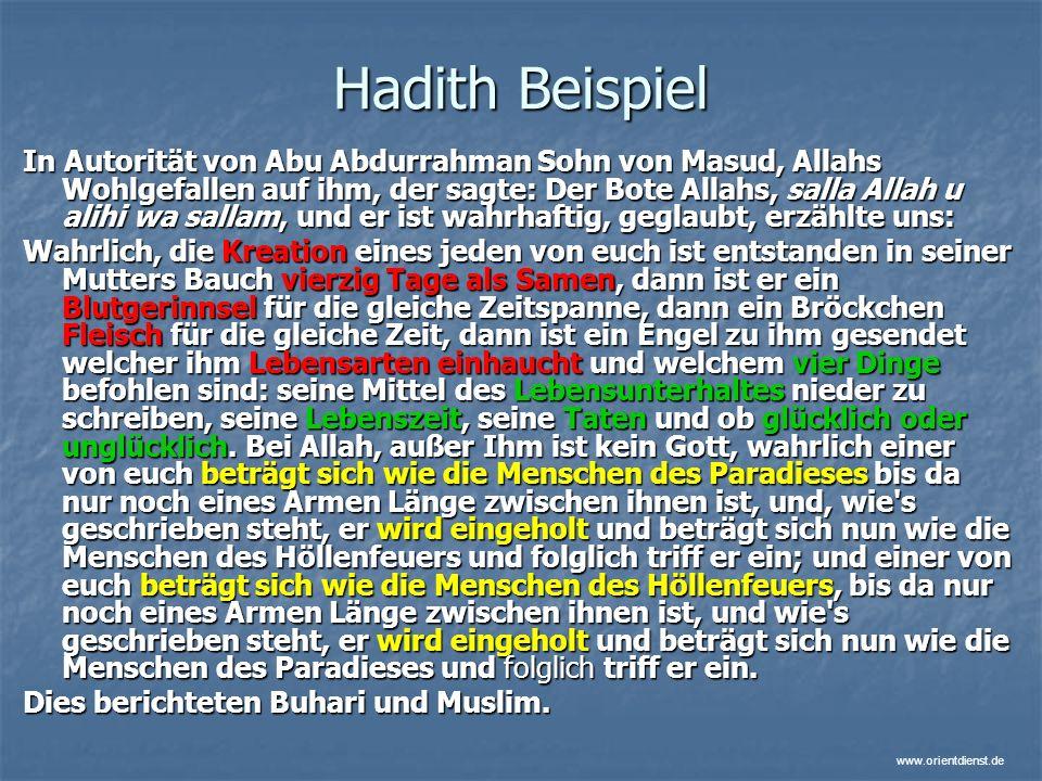 Hadith Beispiel