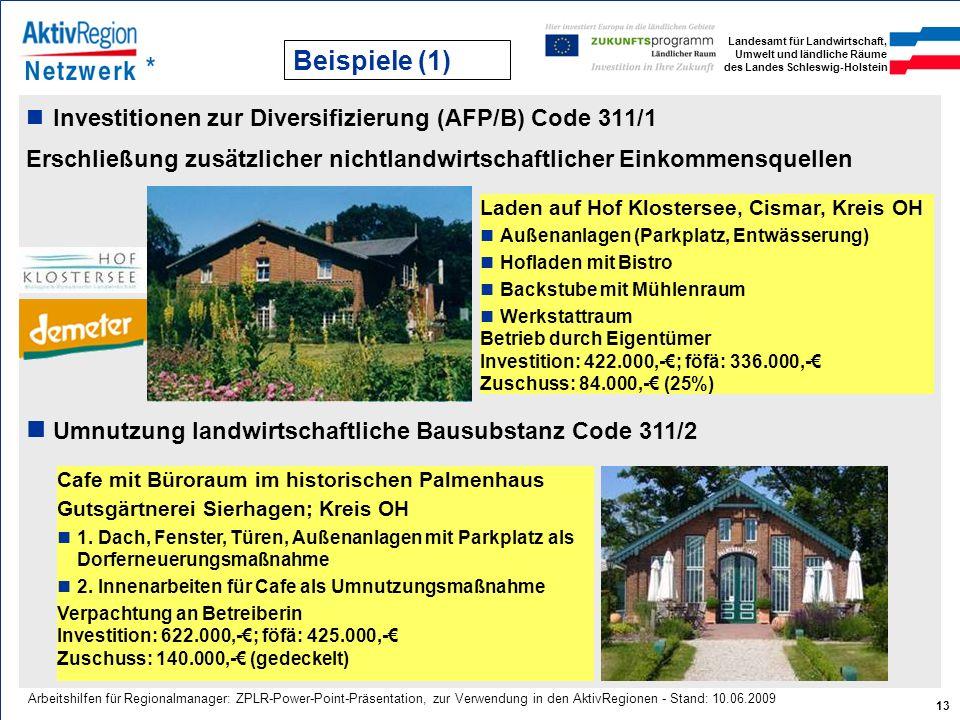 Umnutzung landwirtschaftliche Bausubstanz Code 311/2