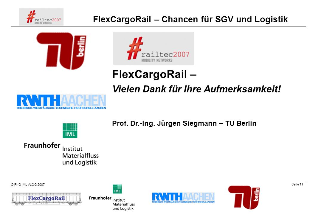 FlexCargoRail – Vielen Dank für Ihre Aufmerksamkeit!