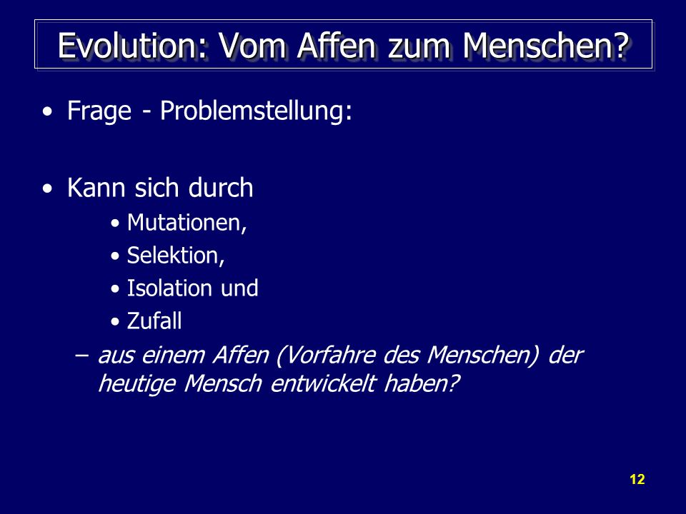 Evolution: Vom Affen zum Menschen