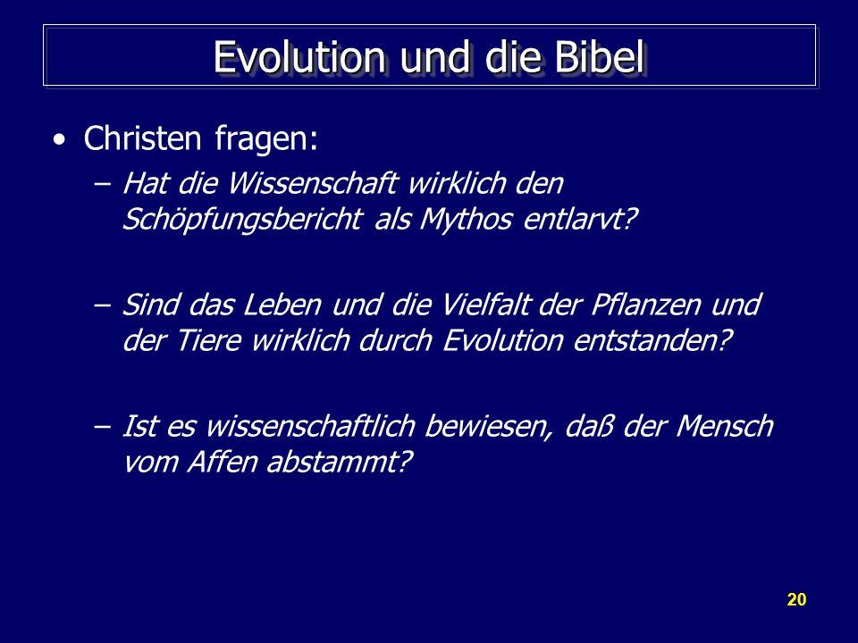 Evolution und die Bibel