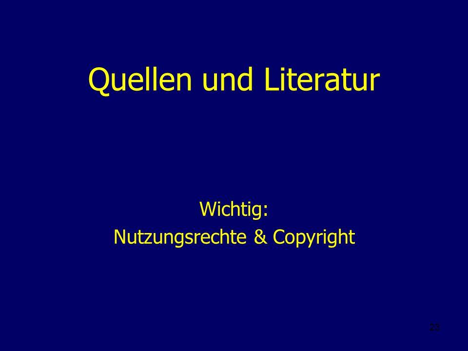 Wichtig: Nutzungsrechte & Copyright