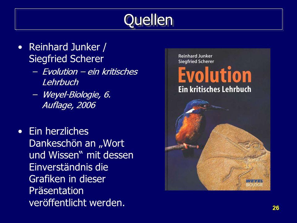 Quellen Reinhard Junker / Siegfried Scherer