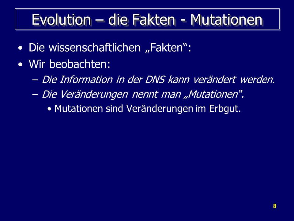 Evolution – die Fakten - Mutationen