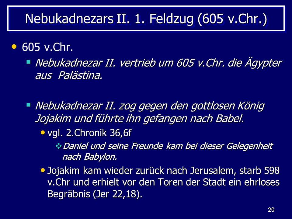 Nebukadnezars II. 1. Feldzug (605 v.Chr.)