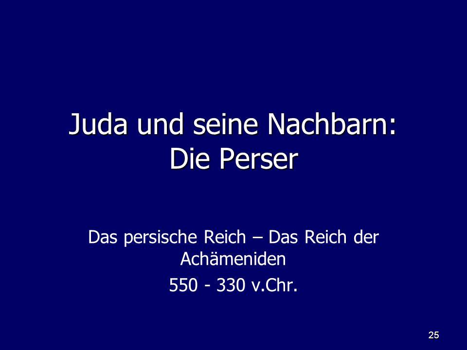 Juda und seine Nachbarn: Die Perser