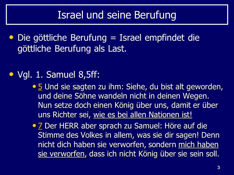 Israel und seine Berufung
