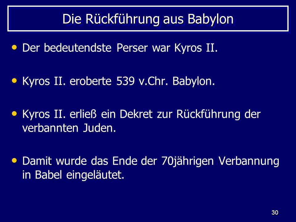 Die Rückführung aus Babylon
