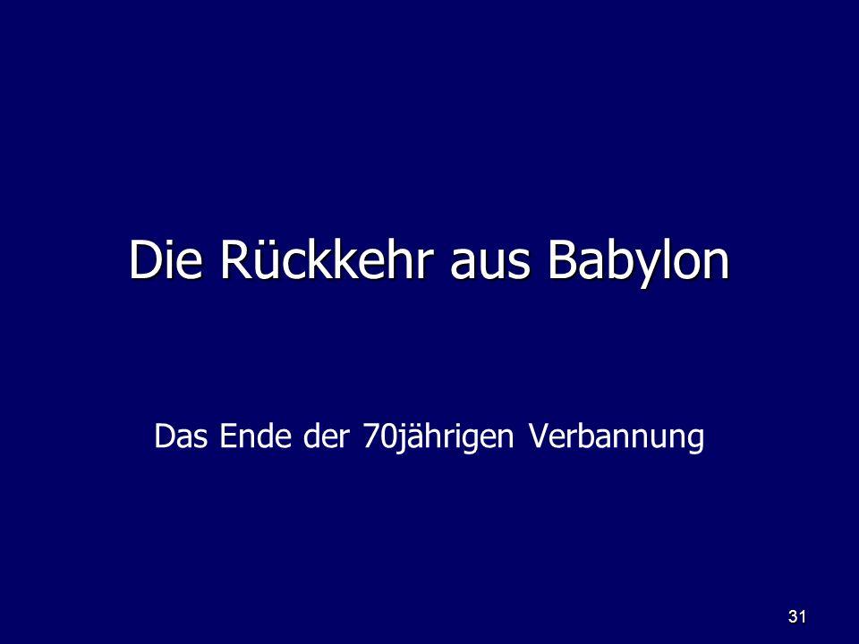 Die Rückkehr aus Babylon