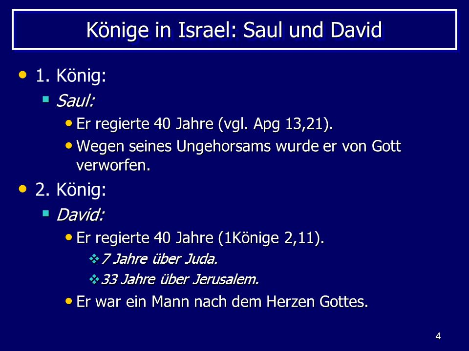 Könige in Israel: Saul und David