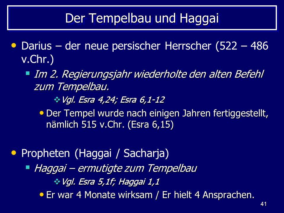 Der Tempelbau und Haggai