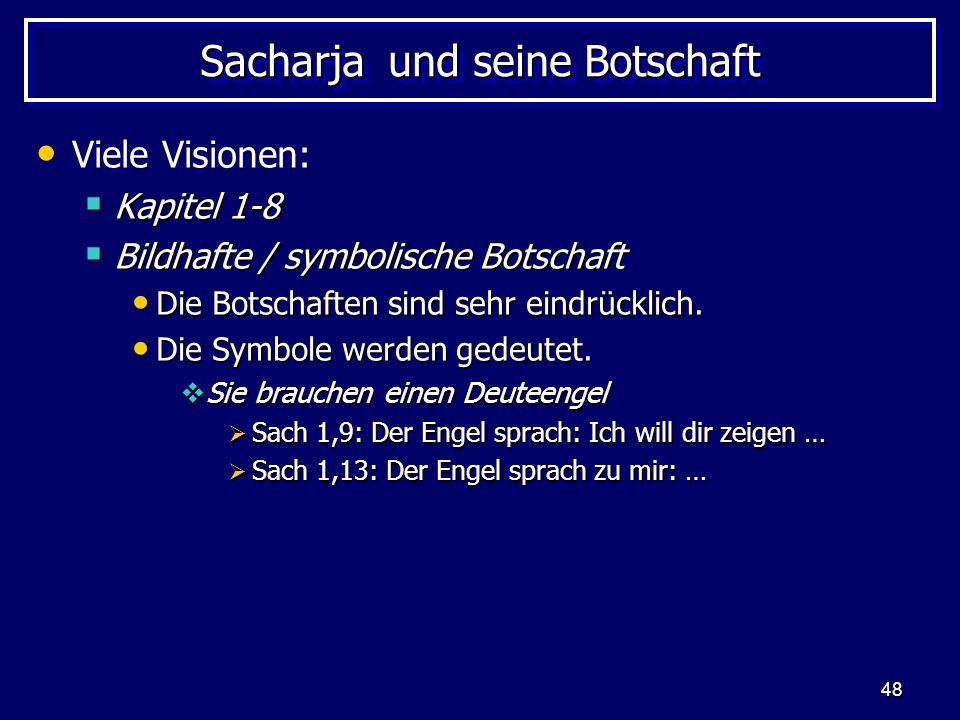 Sacharja und seine Botschaft
