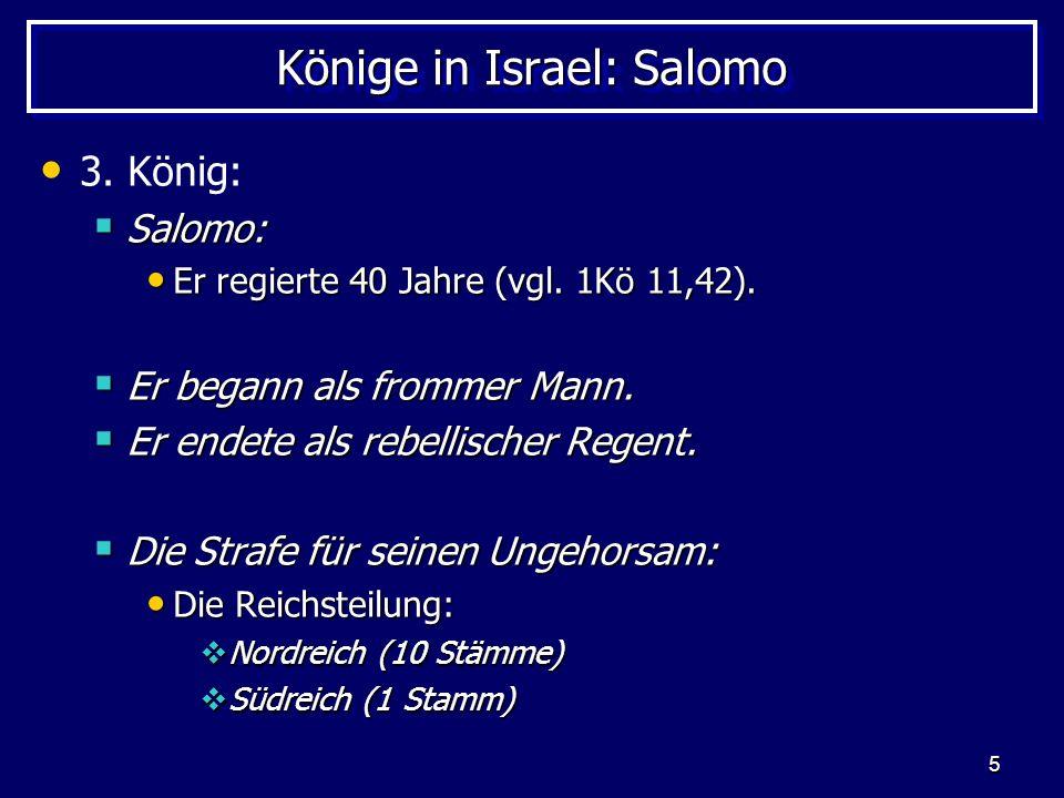 Könige in Israel: Salomo