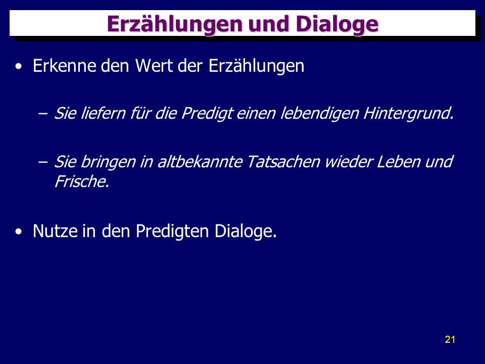 Erzählungen und Dialoge
