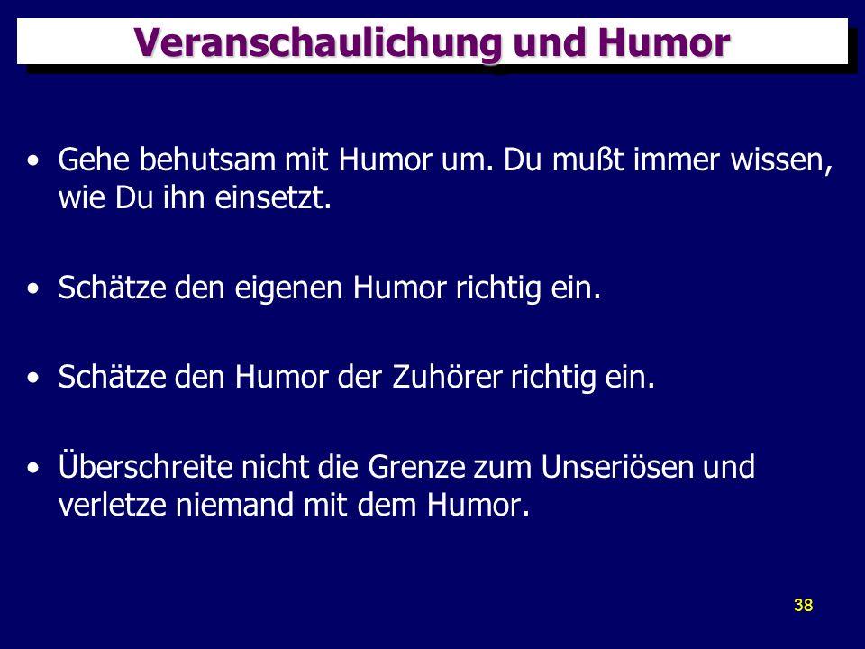 Veranschaulichung und Humor