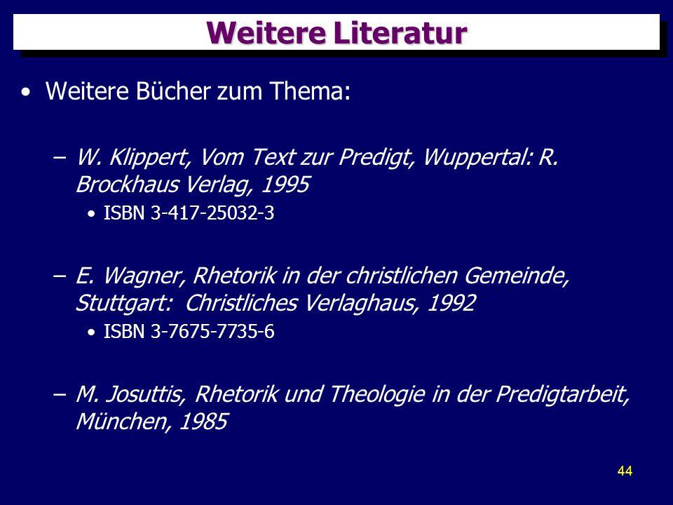 Weitere Literatur Weitere Bücher zum Thema: