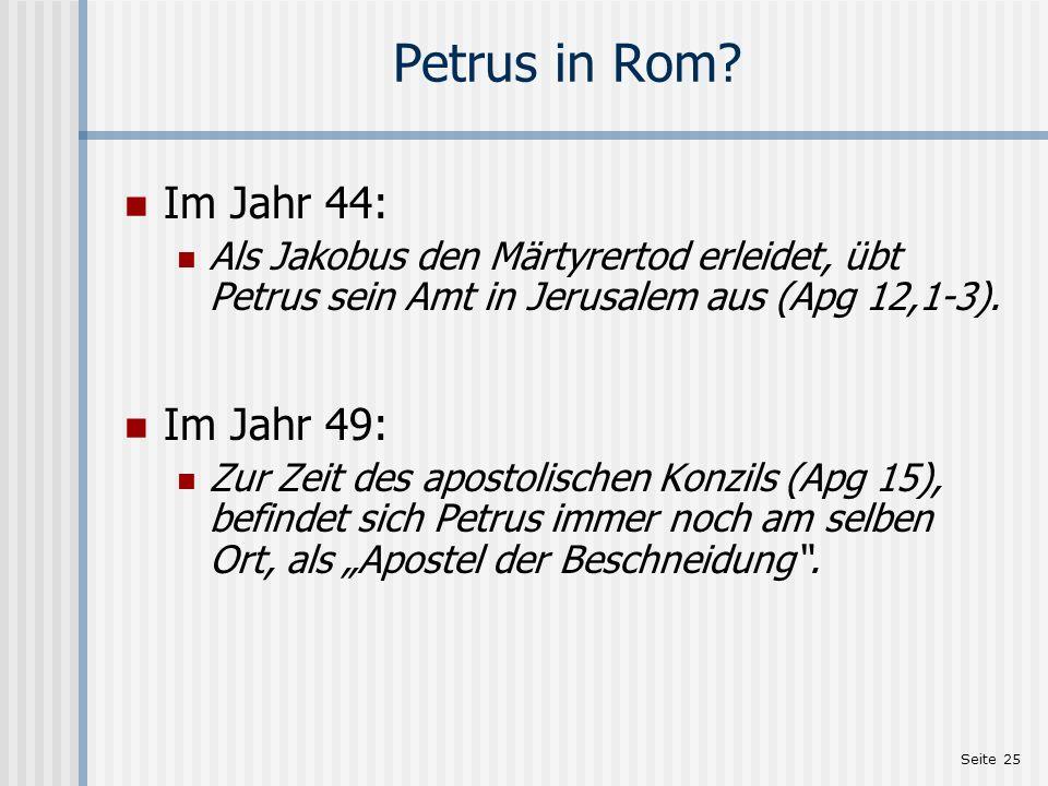 Petrus in Rom Im Jahr 44: Im Jahr 49: