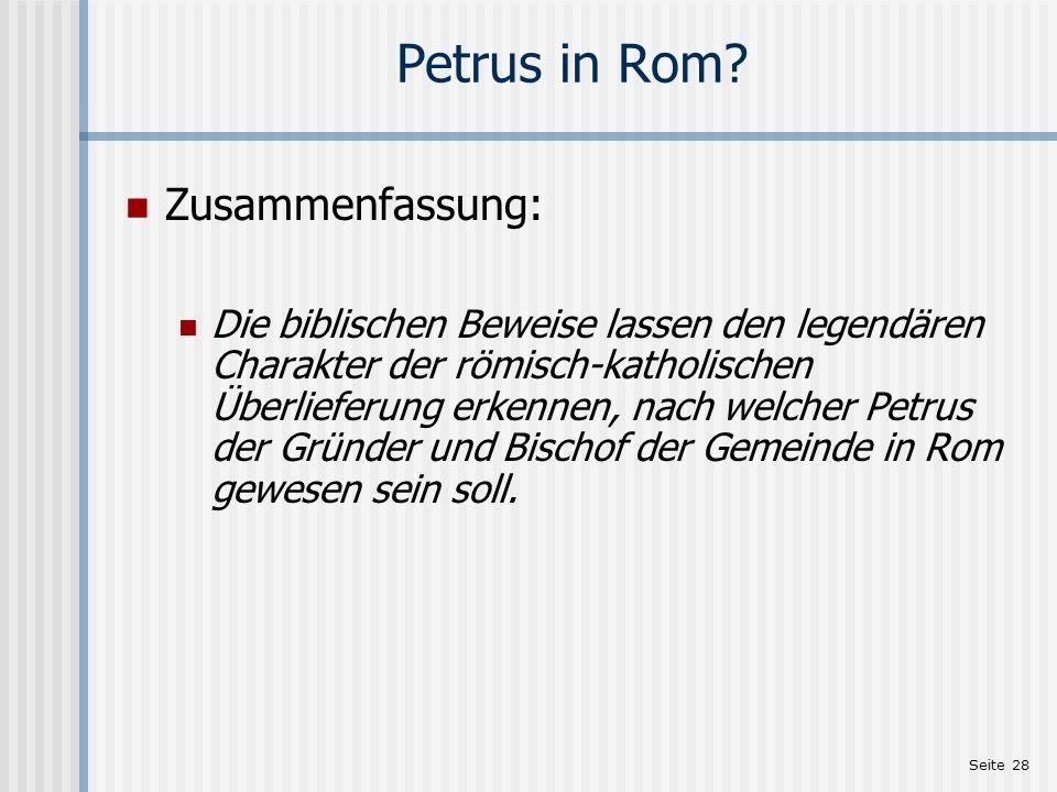Petrus in Rom Zusammenfassung: