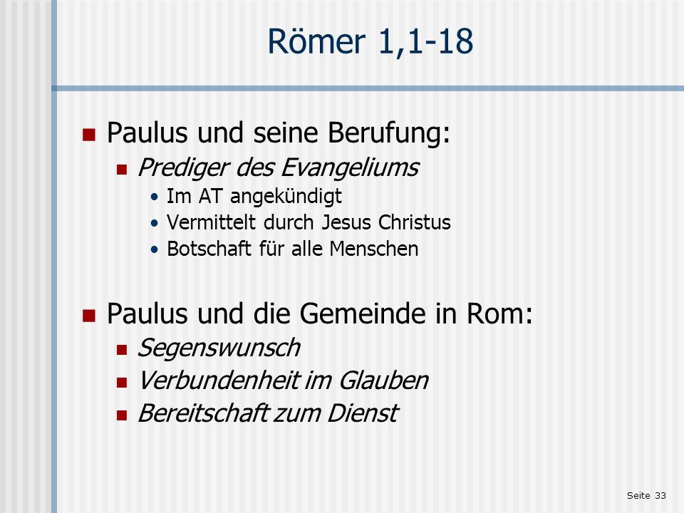 Römer 1,1-18 Paulus und seine Berufung: