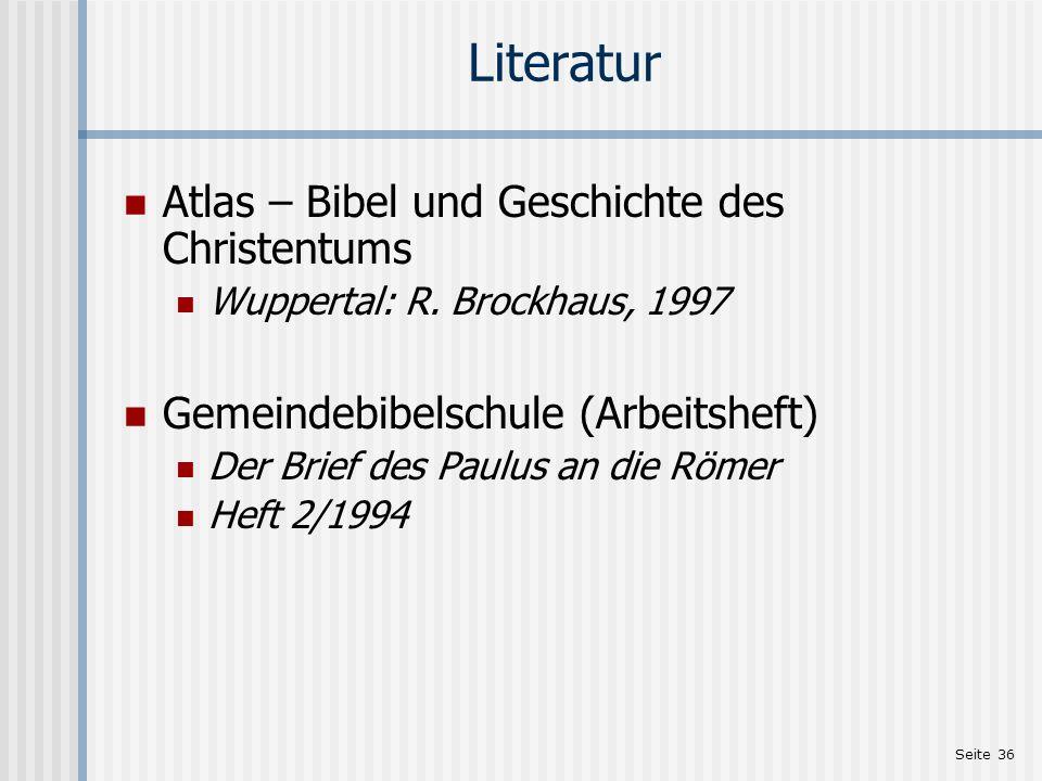 Literatur Atlas – Bibel und Geschichte des Christentums