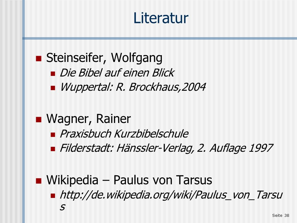 Literatur Steinseifer, Wolfgang Wagner, Rainer