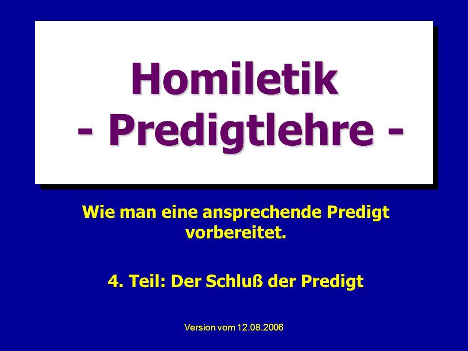 Homiletik - Predigtlehre -