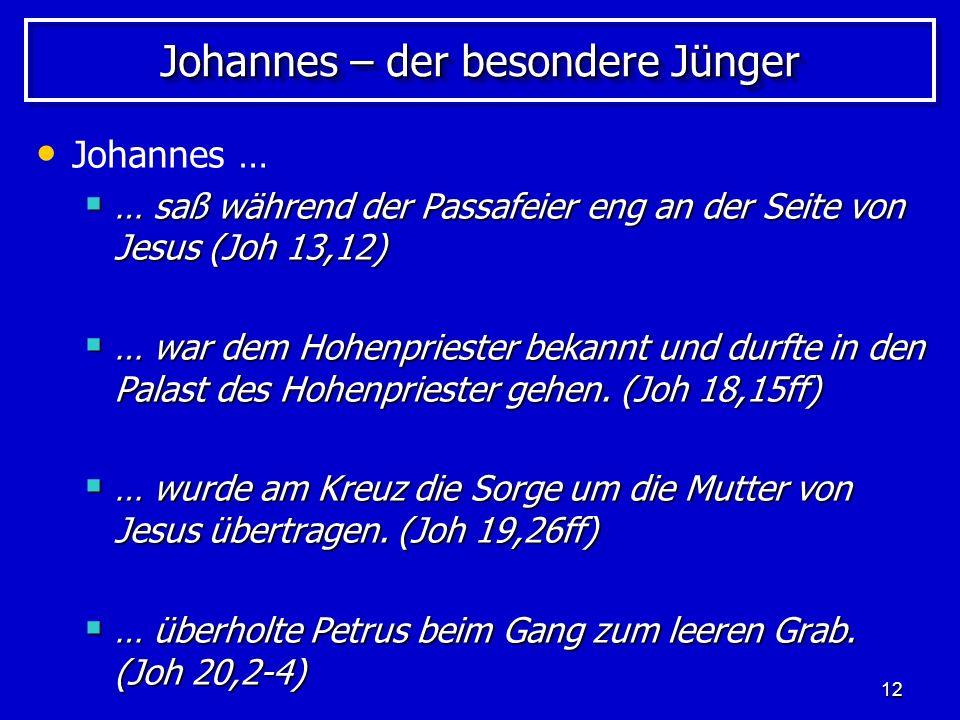 Johannes – der besondere Jünger