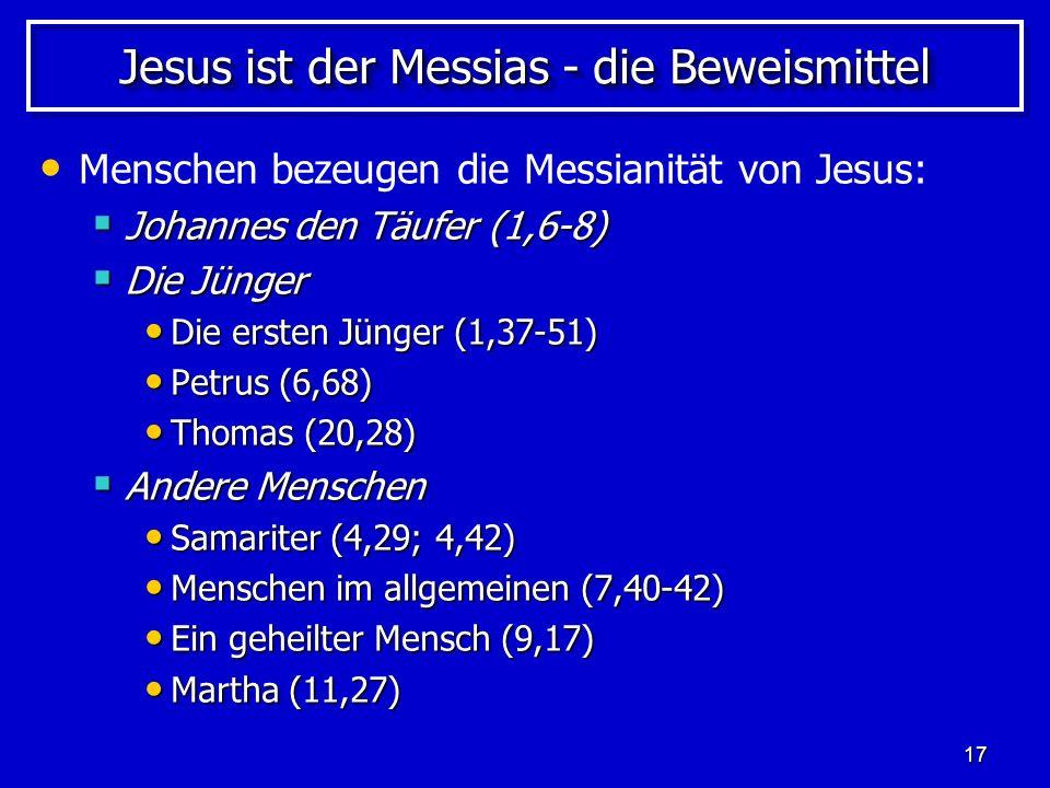 Jesus ist der Messias - die Beweismittel