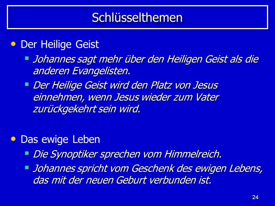 Schlüsselthemen Der Heilige Geist Das ewige Leben