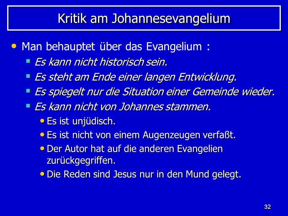 Kritik am Johannesevangelium