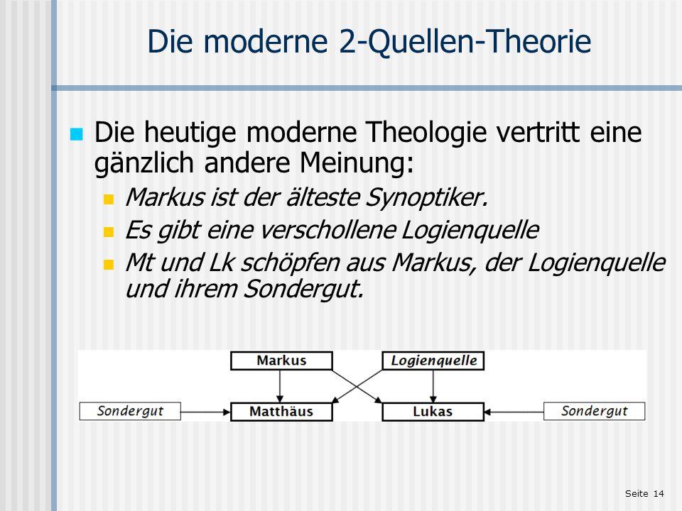 Die moderne 2-Quellen-Theorie