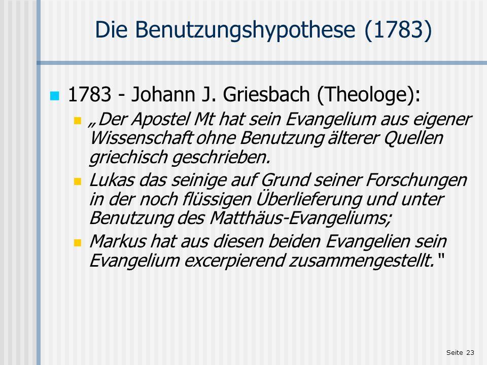 Die Benutzungshypothese (1783)