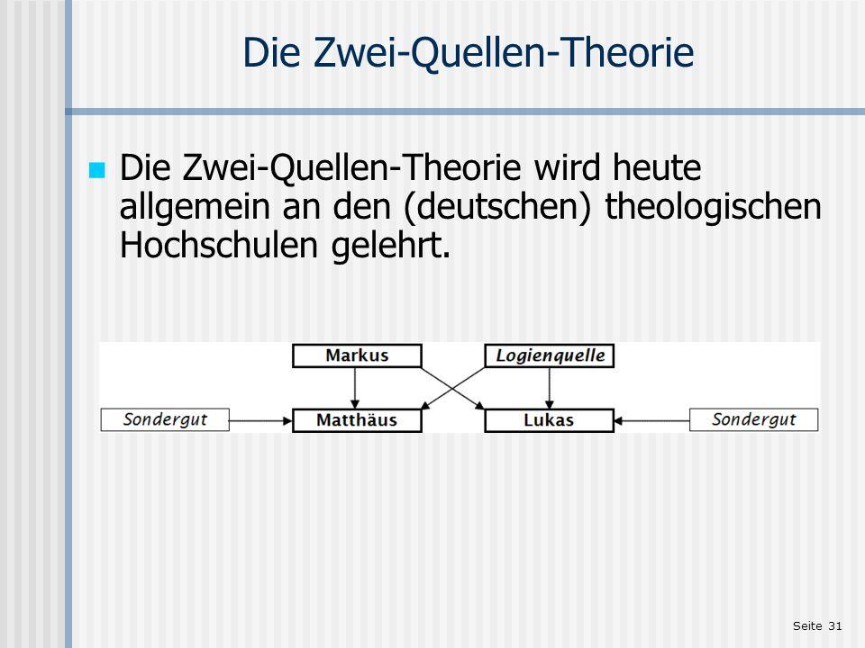 Die Zwei-Quellen-Theorie