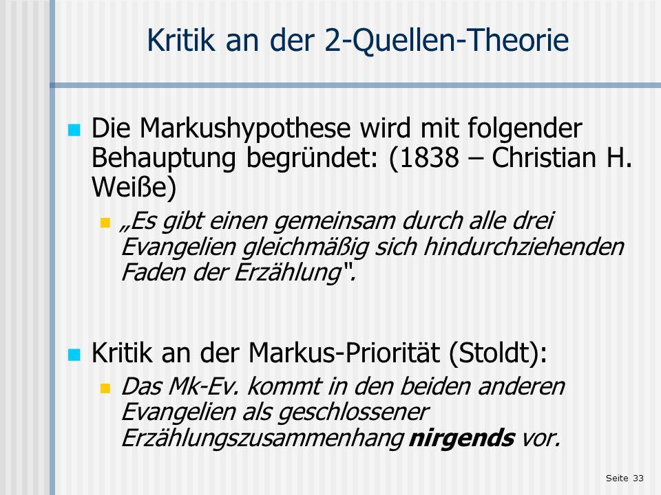 Kritik an der 2-Quellen-Theorie