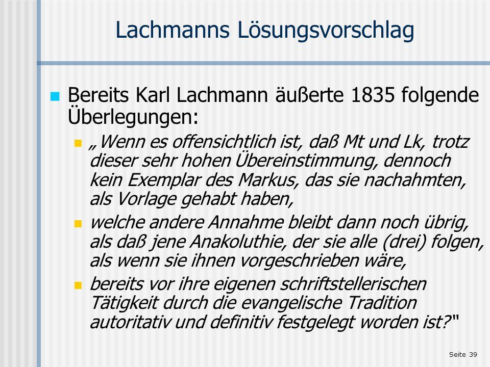 Lachmanns Lösungsvorschlag
