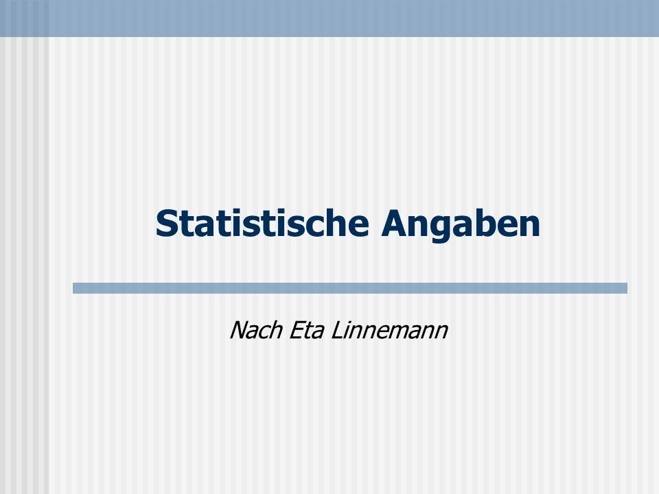Statistische Angaben Nach Eta Linnemann