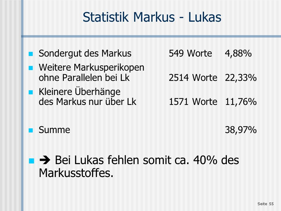 Statistik Markus - Lukas
