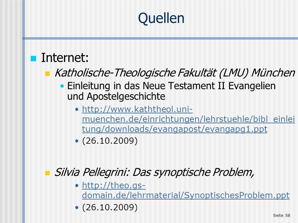 Quellen Internet: Katholische-Theologische Fakultät (LMU) München