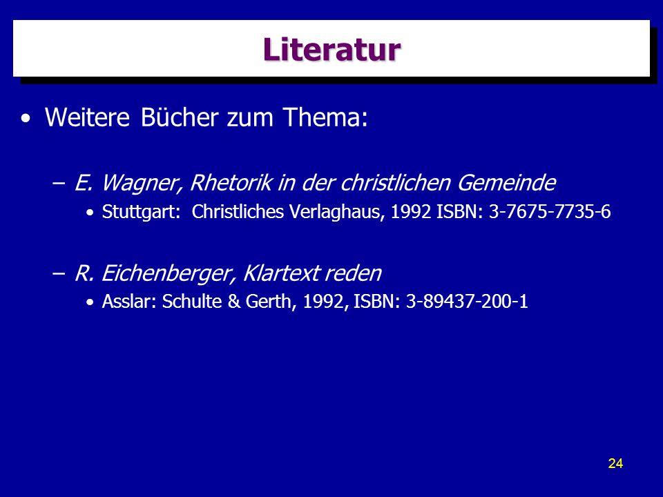 Literatur Weitere Bücher zum Thema: