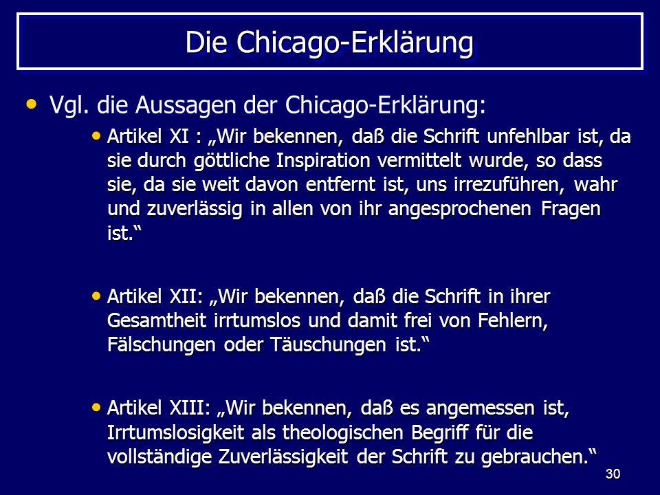Die Chicago-Erklärung