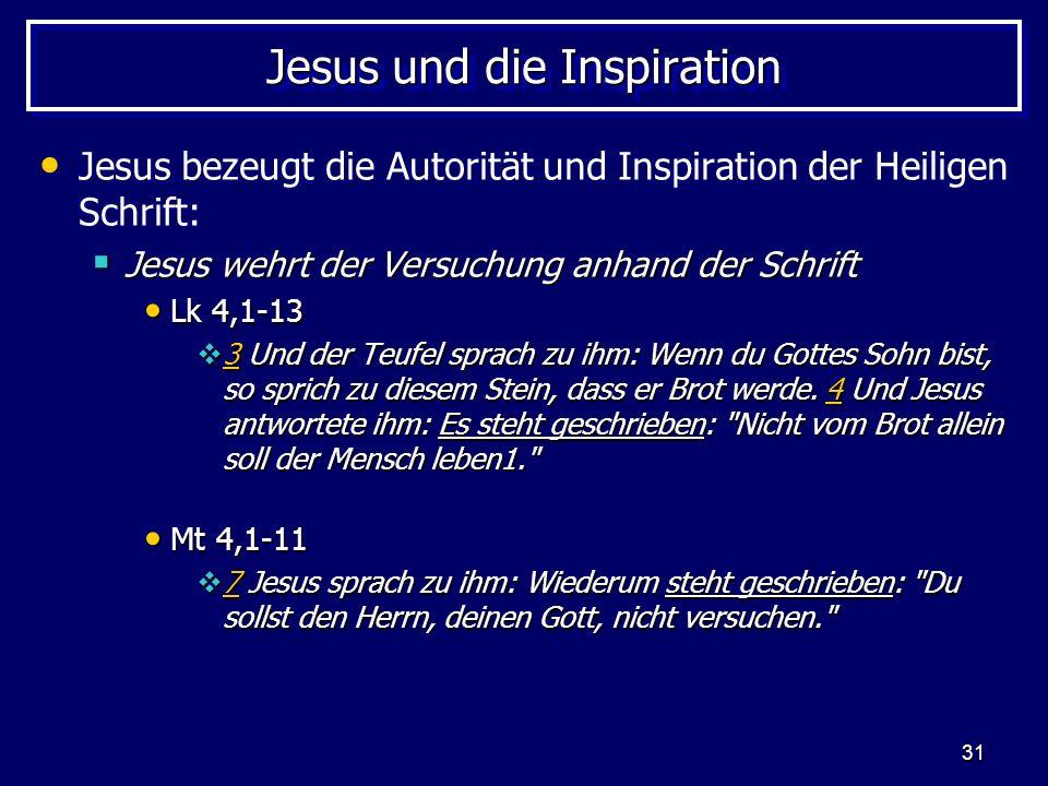Jesus und die Inspiration