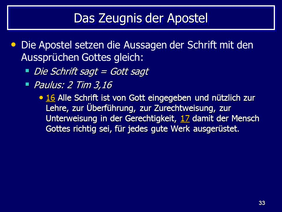 Das Zeugnis der Apostel