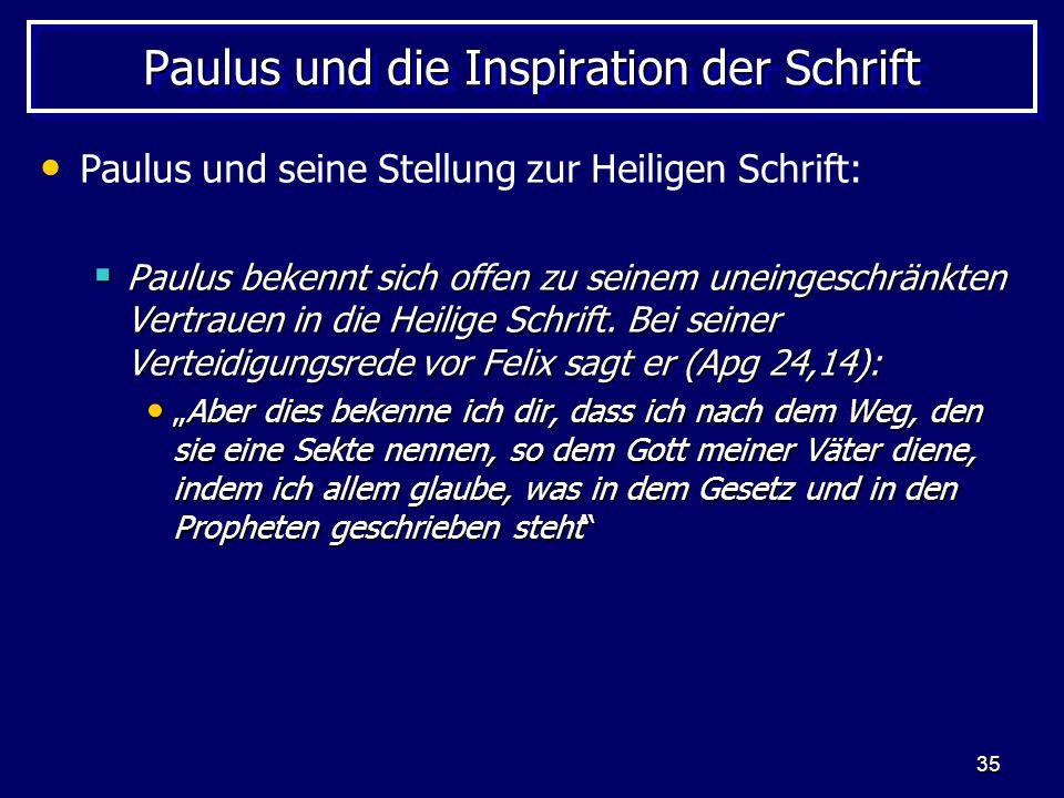 Paulus und die Inspiration der Schrift