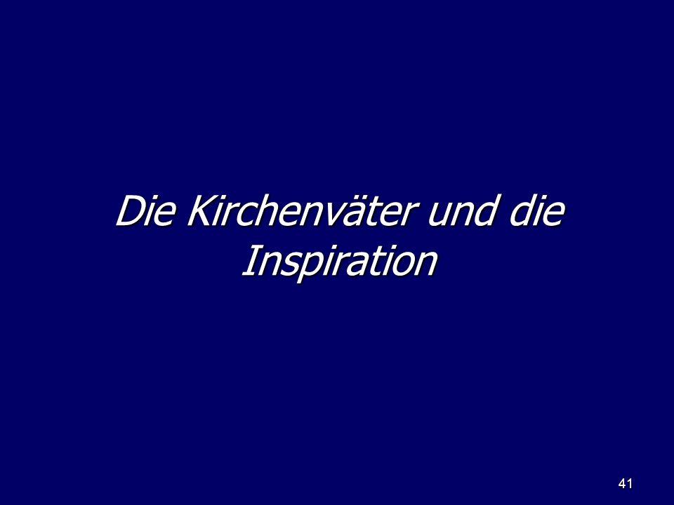 Die Kirchenväter und die Inspiration