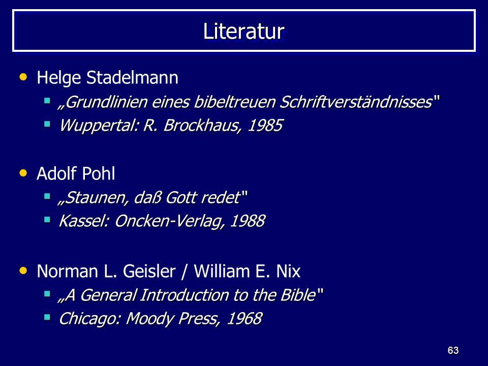 Literatur Helge Stadelmann Adolf Pohl