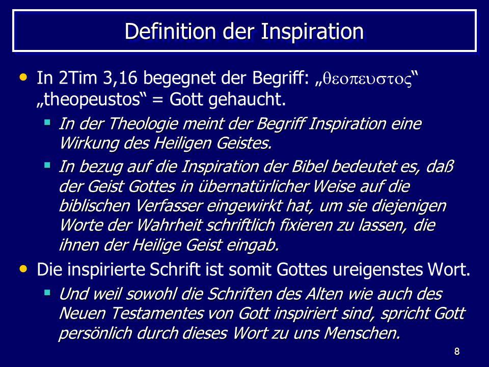 Definition der Inspiration