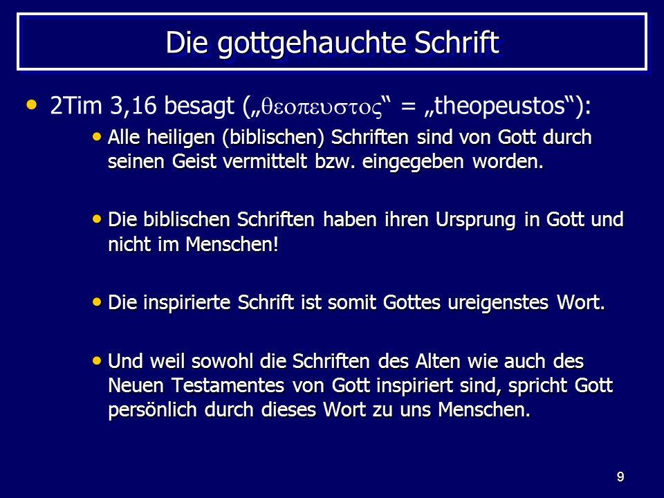 Die gottgehauchte Schrift