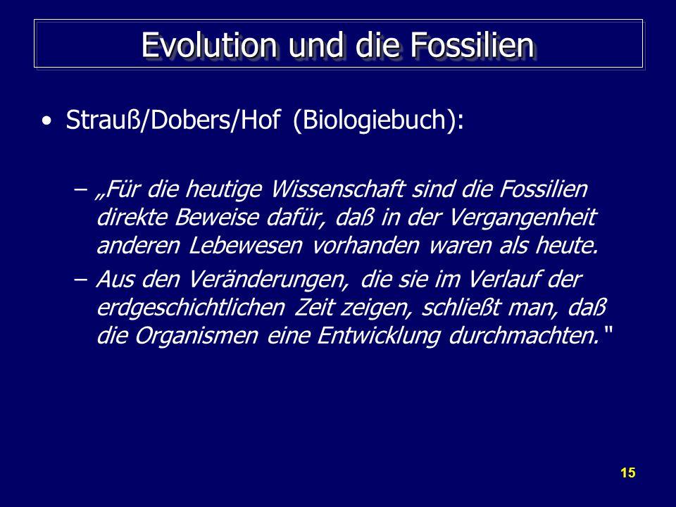 Evolution und die Fossilien