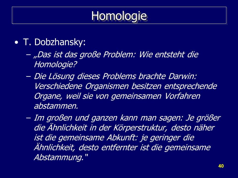 Homologie T. Dobzhansky: